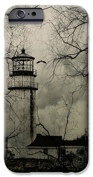 Haunted Lighthouse IPhone Case by Brandi Fitzgerald