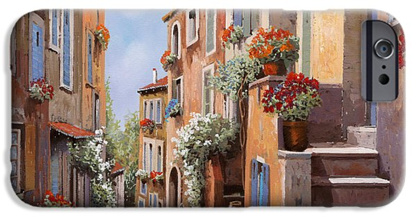 haut de Cagnes IPhone Case by Guido Borelli