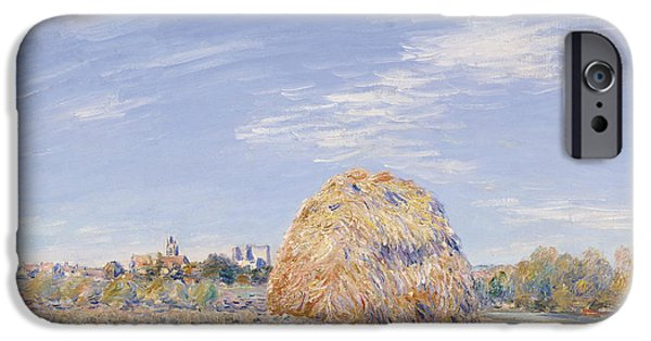Haystack On The Banks Of The Loing IPhone Case by Alfred Sisley