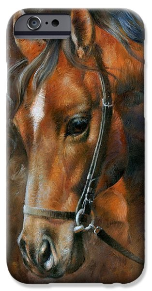 Head Horse IPhone Case by Arthur Braginsky