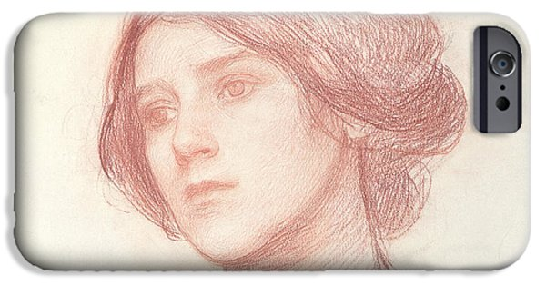Head Of A Girl IPhone Case by John William Waterhouse