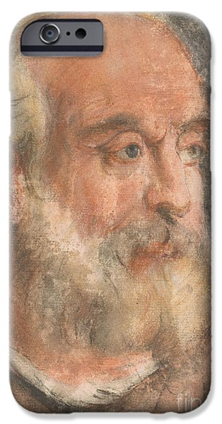Head Of An Old Man With White Beard IPhone Case by Jacopo Bassano