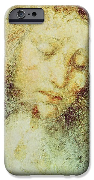 Head Of Christ IPhone Case by Leonardo Da Vinci