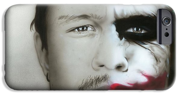 ' Heath Ledger / Joker ' IPhone 6s Case by Christian Chapman Art