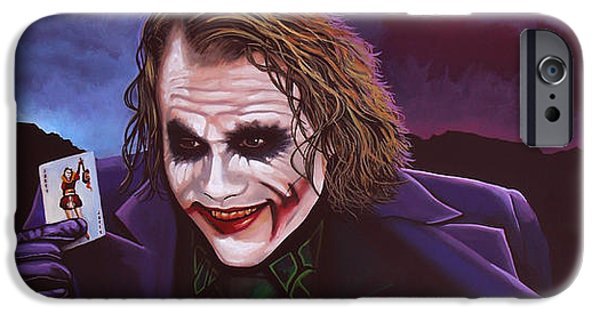 Heath Ledger As The Joker Painting IPhone 6s Case by Paul Meijering