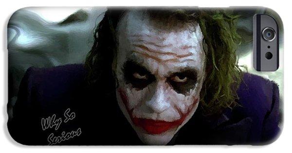 Heath Ledger Joker Why So Serious IPhone 6s Case by David Dehner