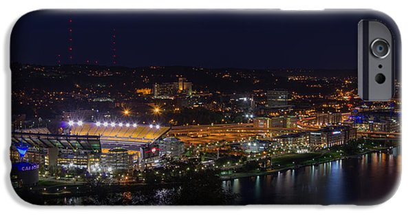 Heinz Field At Night From Mt Washington IPhone Case by Lori Coleman