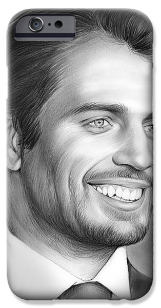 Henry Cavill IPhone Case by Greg Joens