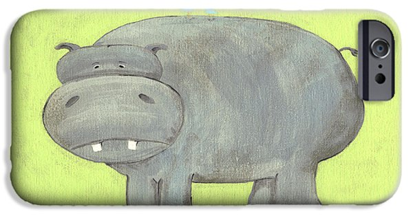 Herbert Hippo Nursery Art IPhone 6s Case by Katie Carlsruh