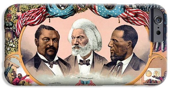 Heroes Of The Colored Race Poster 1881 Restored IPhone Case by Carsten Reisinger