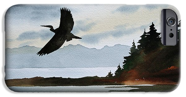 Heron Silhouette IPhone 6s Case by James Williamson
