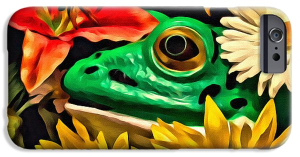 Hiding Frog IPhone Case by Jeff  Gettis