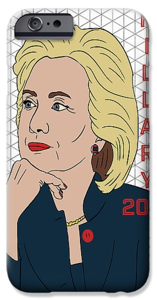 Hillary Clinton 2016 IPhone 6s Case by Nicole Wilson