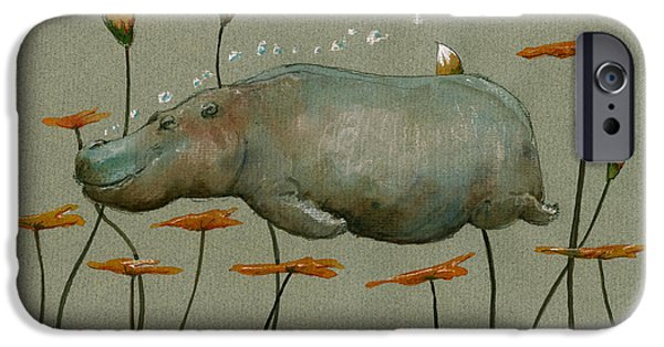 Hippo Underwater IPhone 6s Case by Juan  Bosco