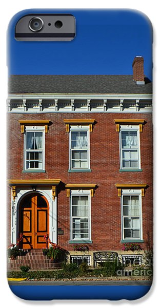 Historic Madison Row House IPhone Case by Amy Lucid