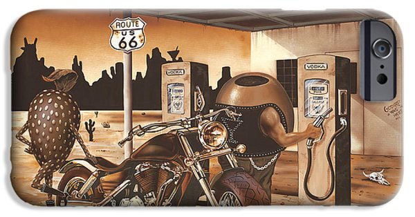 Historic Route 66 IPhone Case by Michael Godard