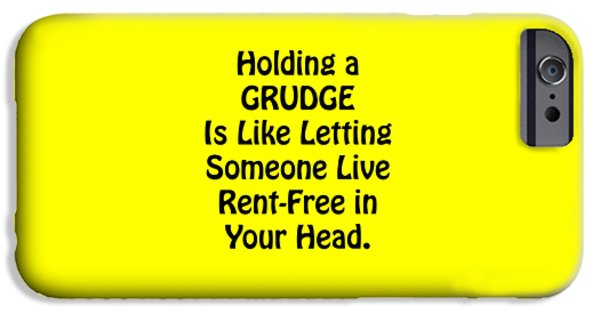 Holding A Grudge Is Like 5439.02 IPhone Case by M K  Miller