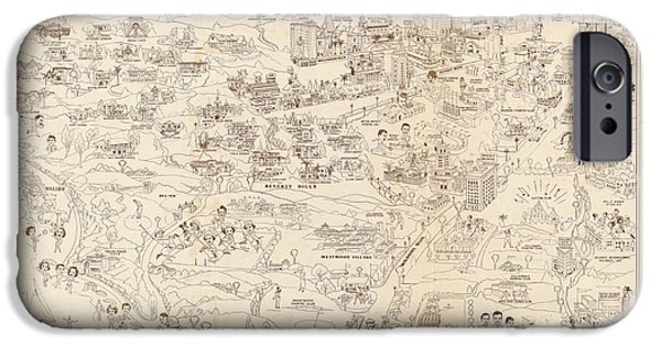 Hollywood Map To The Stars 1937 IPhone 6s Case by Don Boggs