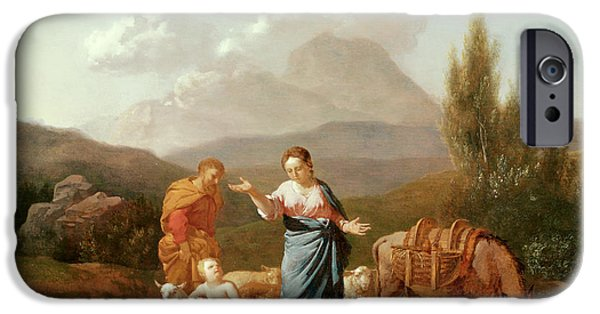 Holy Family At A Stream IPhone Case by Karel Dujardin