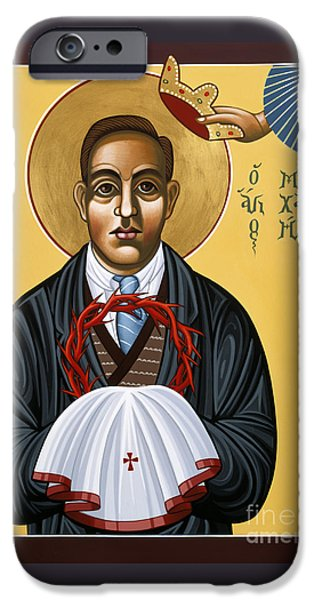 Holy New Martyr Padre Miguel Pro 119 IPhone Case by William Hart McNichols