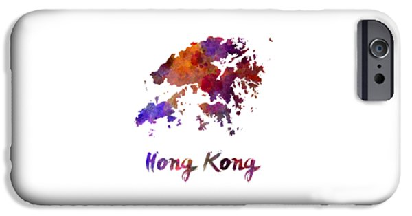 Hong Kong In Watercolor IPhone Case by Pablo Romero