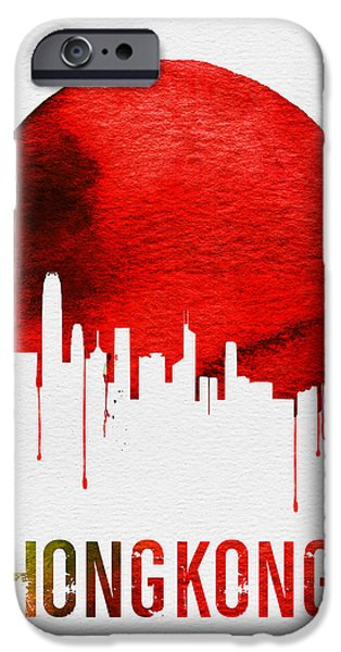 Hong Kong Skyline Red IPhone 6s Case by Naxart Studio