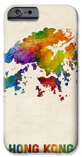 Hong Kong Watercolor Map IPhone 6s Case by Michael Tompsett