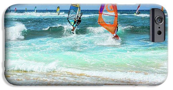 Ho'okipa Beach Wind Surfers IPhone Case by Kelley King