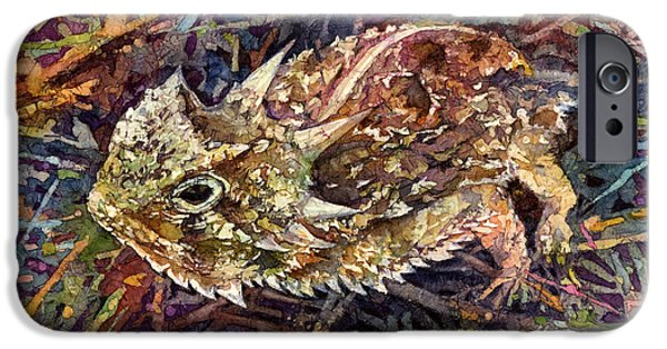 Horned Toad IPhone Case by Hailey E Herrera