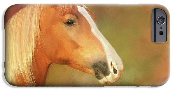 Horse Painting IPhone Case by Michael Greenaway