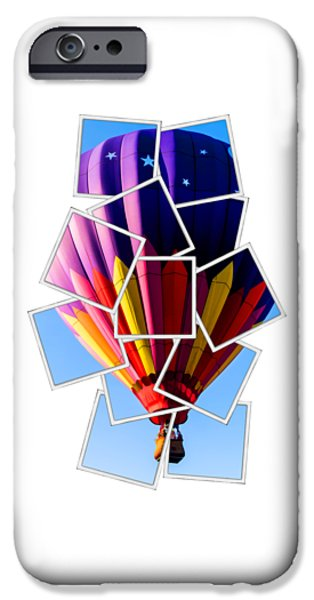 Hot Air Ballooning Tee IPhone Case by Edward Fielding