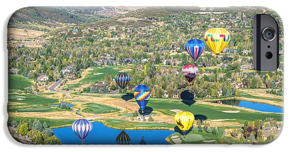 Hot Air Balloons Over Park City IPhone Case by James Udall
