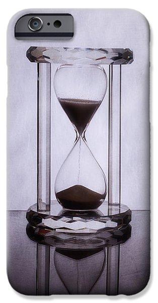 Hourglass - Time Slips Away IPhone Case by Tom Mc Nemar