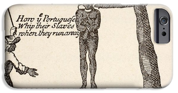 How The Portuguese Whip Their Slaves IPhone Case by Vintage Design Pics