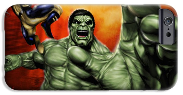 Hulk IPhone Case by Pete Tapang
