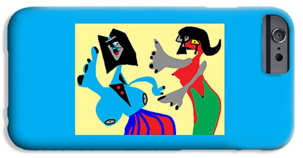 I Can Dance Like Picasso IPhone Case by International Artist Brent Litsey