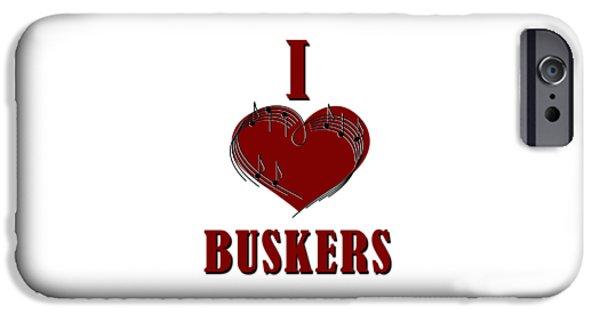 I Heart Buskers IPhone Case by John Haldane
