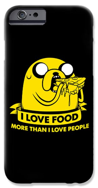 I Love Food IPhone Case by Billi Vhito