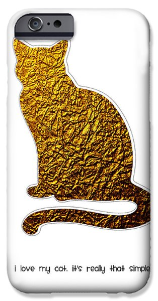 I Love My Cat IPhone Case by Shivonne Ross