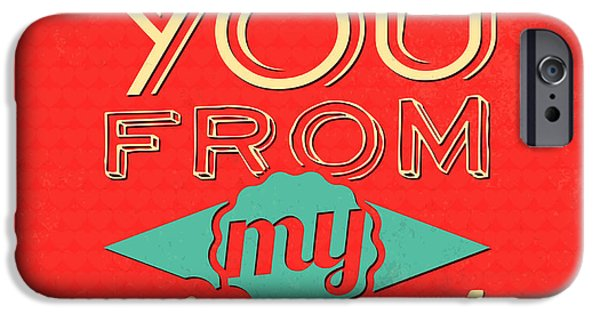 I Love You From My Heart IPhone Case by Naxart Studio