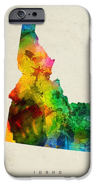 Idaho State Map 01 IPhone Case by Aged Pixel