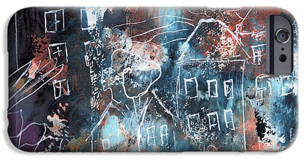 In A Northern Town- Abstract Art By Linda Woods IPhone Case by Linda Woods