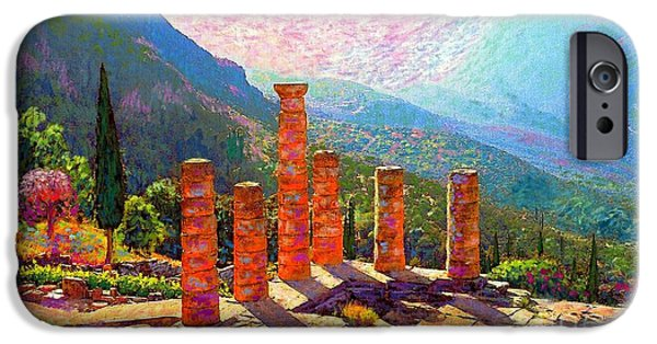 In Awe Of Delphi IPhone Case by Jane Small