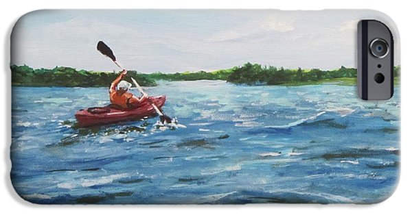In The Kayak IPhone Case by Jack Skinner