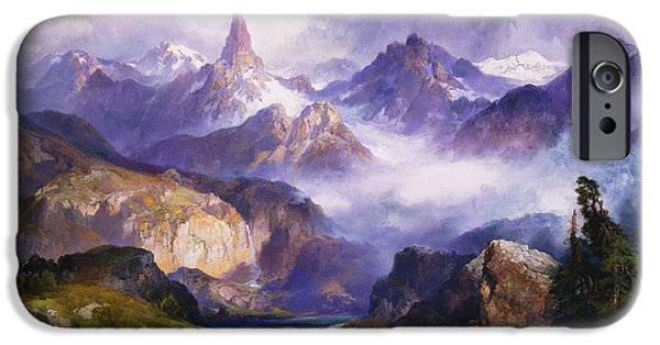 Index Peak Yellowstone National Park IPhone Case by Thomas Moran