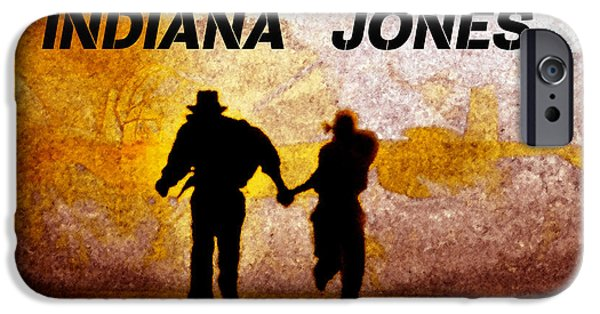Indiana Jones Poster Work A IPhone Case by David Lee Thompson