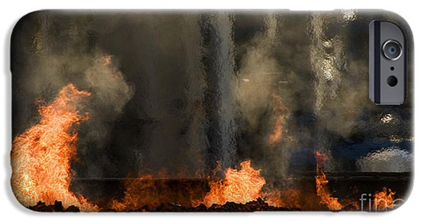 Industrial Fire IPhone Case by Sick Michael