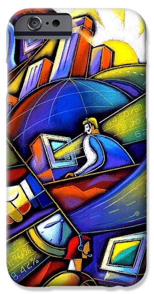 Information Age IPhone Case by Leon Zernitsky