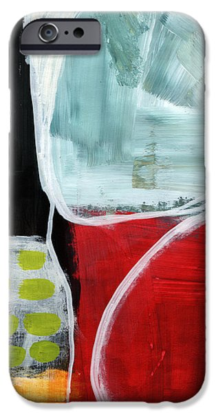 Intersection 37- Abstract Art IPhone Case by Linda Woods