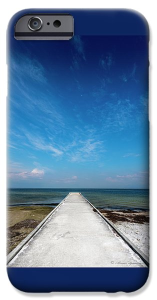 Into The Blue IPhone Case by Marvin Spates